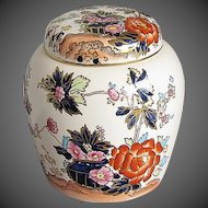 Mason's Ironstone Small Ginger Jar, Mandarin Pattern, Vintage