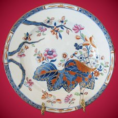 Antique Spode Stone China Small Plate #2, Cabbage Pattern, Early 19C English Imari