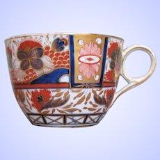 "Antique English Imari Cup, ""Admiral Nelson"", Chamberlain's Worcester Pattern 240, Georgian"