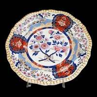 "Antique Spode Plate, ""Imari Cottage"", 4176, Early 19th C English"