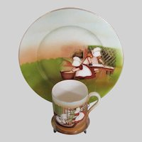 Royal Bayreuth Sunbonnet Babies, Child's Plate and Mug,  Vintage