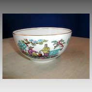 "English Chinoiserie Waste Bowl, Antique 19th C, Sampson Bridgwood ""Pekin"""