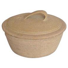 "Leach Pottery St. Ives, Large ""Standard Ware"" Lidded Casserole"