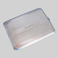 Sterling Silver Art Deco Cigarette Case, American, signed Watrous