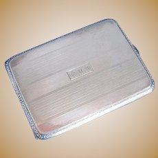 Sterling Silver Art Deco Cigarette Case, American, signed Watrous