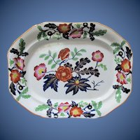 Antique Large Ironstone Platter, English Imari, Early 19C Ridgway