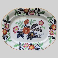 Antique Ridgway Ironstone Platter, English Imari, Early 19th C