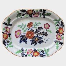 Antique Ridgway Ironstone Platter, English Imari, Early 19th C