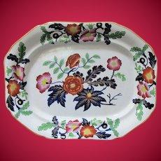 Antique English Imari  Ironstone Platter,  Early 19th C Ridgway