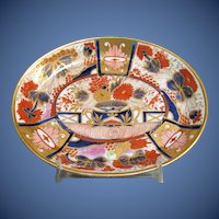 """Antique English Imari Teapot Stand, Chamberlain's Worcester  """"Admiral Nelson"""" Pattern 240, Early 19th C"""