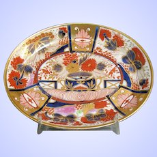 """Antique Teapot Stand, Chamberlain's Worcester """"Nelson"""" Pattern 240, Early 19th C"""
