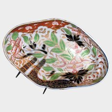 """Antique Spode """"Finger and Thumb""""  Large Oval Dish, Early 19th C"""