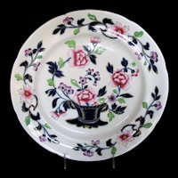 Antique Ridgway Plate, Early 19th C Ironstone China