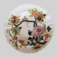 """Antique Mason's Ironstone Soup Plate/Bowl, """"Wood Pigeon"""", 19th C Chinoiserie"""