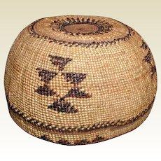 Hupa Indian Basket, California, Vintage Native American