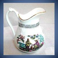 "Antique English Chinoiserie Jug, 19th C Sampson Bridgwood ""Pekin"""