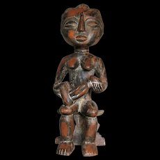 Large Akan (Asante) Carved Maternity Figure, Queen Mother