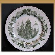 Wedgwood Plate, University of Washington, Chimes Tower, Green,  Vintage