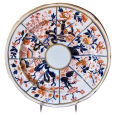 Early Mason's Ironstone Plate, Imari, Antique, Impressed Mark,