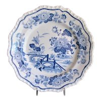 Antique Hicks & Meigh Plate, Stone China Pattern 21, Early 19C