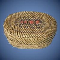 Old Nootka Indian Trinket  Basket,  Northwest Native American