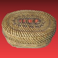 Old Nootka Indian Trinket  Basket,  Northwest Native American