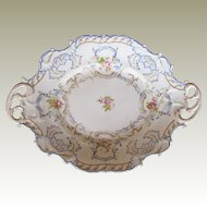 Chamberlain's Worcester Large Dessert Dish or Platter, Antique Early 19th C English