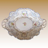 Chamberlain's Worcester Rococo Dessert Dish or Platter, Antique Early 19th C English