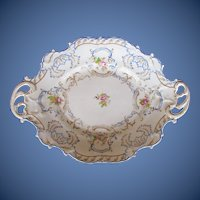 Antique English Dessert Dish,  Chamberlain's Worcester Porcelain, Early 19th C