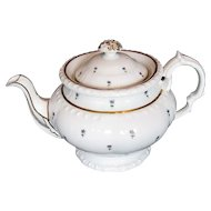 Minton Teapot, Bone China, Antique Early 19th C English