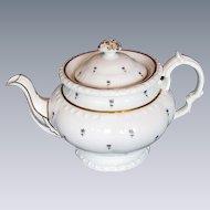 Minton Teapot, Bone China, Antique Early 19th C English