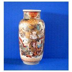 Antique Satsuma Vase, 19th C Japanese, Meiji Era