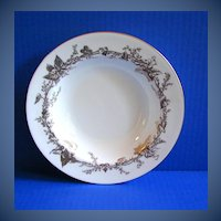 Mintons  Soup Bowl, Lothian Gold Pattern, Gold Rimmed, Vintage English China