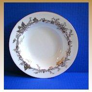 Mintons  Soup Bowl, Lothian Gold Pattern, Gold Rimmed, Vintage English China