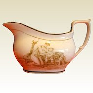 Antique Creamer, Mother & Child, Early 19th C English New Hall