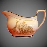Antique English Creamer, Mother & Child, Early 19th C New Hall
