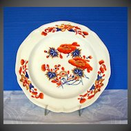 Antique Plate, English Chinoiserie with Imari Colors,  Early 19th C Derby