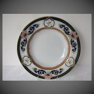 Staffordshire  Soup Plate, Transferware Nonpareil Pattern 2/7729, Antique 19th C English