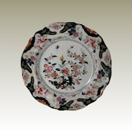 """John Ridgway Plate, English Chinoiserie, """"Constantia"""", Antique Early 19th C"""