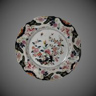"""Ridgway Small Plate, English Chinoiserie, """"Constantia"""", Antique Early 19th C"""