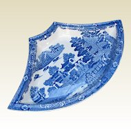 "Antique Spode Supper Set Segment, Blue & White, ""Forest Landscape"", Early 19th C"