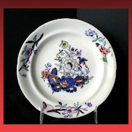 """Davenport 6"""" Plate, Stone China,  Antique Early 19th C English"""