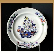 "Davenport 6"" Plate, Stone China,  Antique Early 19th C English"