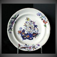 """Antique English 6"""" Plate, Stone China,   Davenport Early 19th C"""