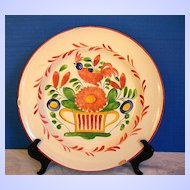 Antique French Faience Plate, St. Clement, 19th C,  A/F