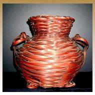 Japanese Ikebana Bamboo Basket c.1920, Taisho Period