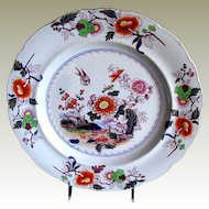 Ashworth Ironstone Chinoiserie Plate,  Real Stone China,  Antique 19th C