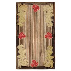 Antique Hooked American Rug 2696