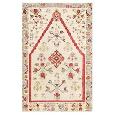 Oriental Antique Tribal Turkish Kirshehir Prayer Rug 47476