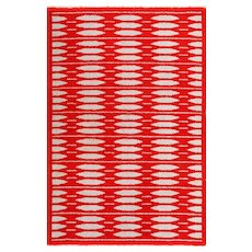 Mid Century Vintage Double-Sided Swedish Rug 47788